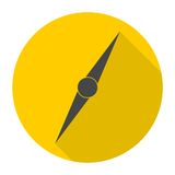 Compass needle icon with long shadow Stock Photo