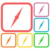 Compass needle icons set Stock Photo