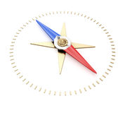 Compass needle. On white background. 3d render Stock Photo