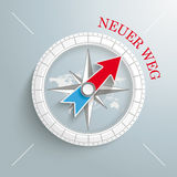 Compass Neuer Weg Royalty Free Stock Image