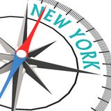 Compass with New York word Stock Photos