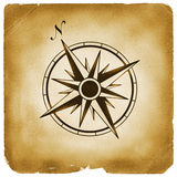 Compass north sign old paper Royalty Free Stock Photo