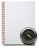 Compass and notebook Royalty Free Stock Photos