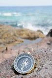 Compass and Ocean - Orientation Stock Photos