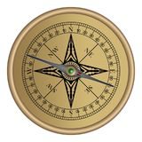 Compass old Antique vintage vector eps Stock Image