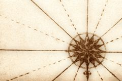 Compass from old book Stock Photography