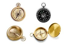 Compass. Old Marine  Circle Direction Single Object Text Stock Images