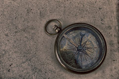 Compass on old paper Stock Images