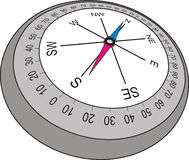 Compass in old style , vector illustration Royalty Free Stock Photography
