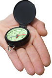 Compass On A Hand Stock Photo