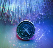 Compass on  optic background Royalty Free Stock Photo