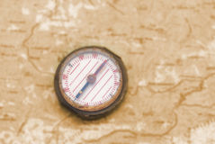 Compass over the map Royalty Free Stock Photography