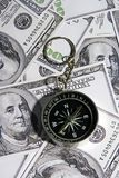 Compass Over Money Royalty Free Stock Photo