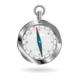 Compass over white Royalty Free Stock Image
