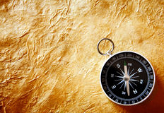Compass on Parchment Paper Stock Images
