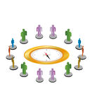 Compass people Stock Image