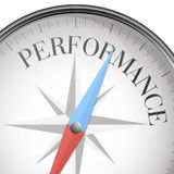Compass performance. Detailed illustration of a compass with performance text Royalty Free Stock Images