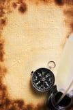 compass pióro starą papierową dutkę Zdjęcia Stock