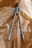Compass in plastic bag Stock Photo