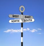 Compass point signpost Stock Photos