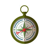The compass pointing on East Stock Image
