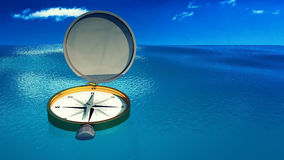 Compass pointing the north Royalty Free Stock Images