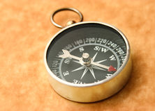 Compass pointing northwest Stock Image