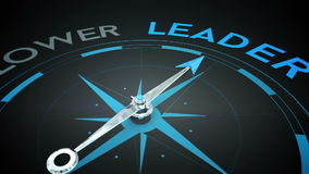 Compass pointing to leader