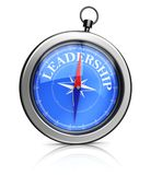 Compass pointing to leadership Stock Photography