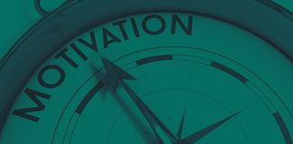 Compass pointing to motivation Stock Images