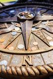 compass pray for guiding for life to happy Royalty Free Stock Image