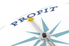 Compass Profit Stock Image
