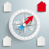 Compass Proper Real Estate Royalty Free Stock Photos