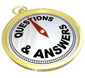 Compass - Questions and Answers Help Assistance Royalty Free Stock Image