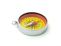 Compass with a red Stock Photo