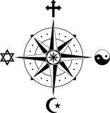 Compass of religions Royalty Free Stock Photo