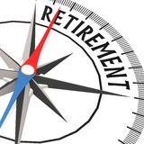 Compass with retirement word Royalty Free Stock Photography