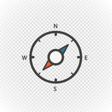 Compass retro design vector icon  Royalty Free Stock Images