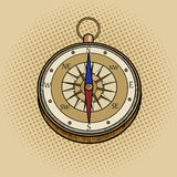 Compass retro pop art style vector Stock Photos