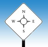 Compass road sign Stock Photo