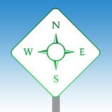 Compass road sign Stock Photography