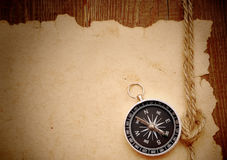 Compass and rope Royalty Free Stock Image