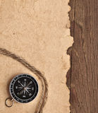 Compass and rope Royalty Free Stock Photos