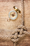 Compass with a rope Stock Images