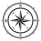 Compass rose. In black and white, vector illustration Royalty Free Stock Photography