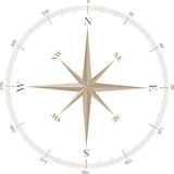 Compass Rose. A simple windrose indicating cardinal points and angles Royalty Free Stock Photos