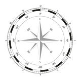 Compass rose. On white background,  illustration Royalty Free Stock Photos