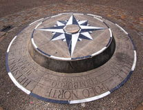 Compass rose. In Burgos Castle , Spain Stock Images
