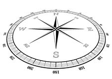 Compass rose Royalty Free Stock Image
