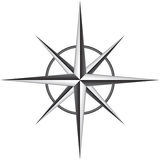 Compass rose Stock Images